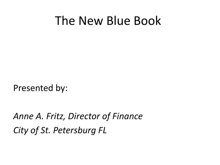 the new blue book n.