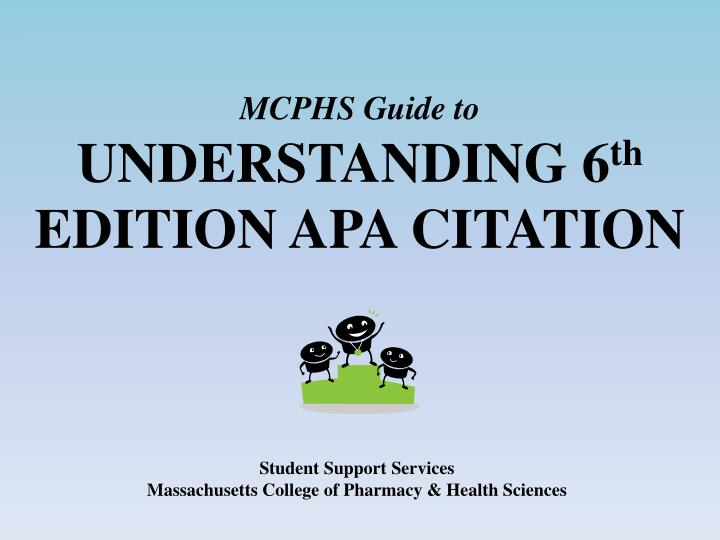 mcphs guide to understanding 6 th edition apa citation n.