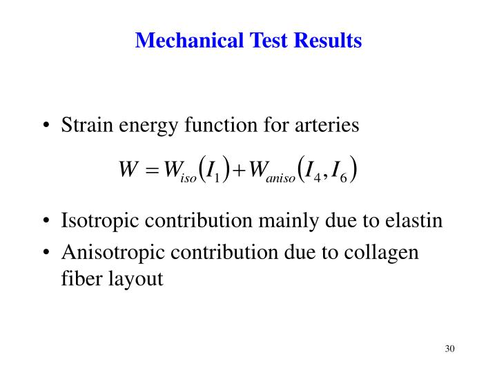 Mechanical Test Results