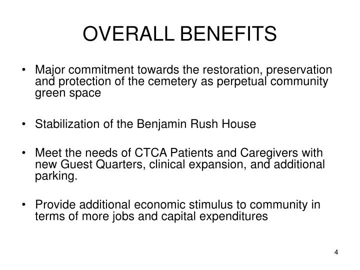 OVERALL BENEFITS