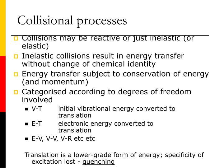 Collisional processes