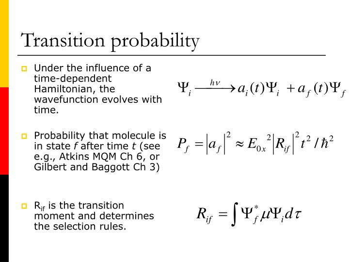 Transition probability