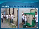 april beautification project