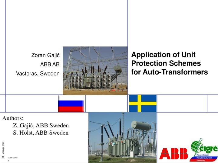 application of unit protection schemes for auto transformers n.