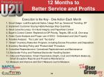 12 months to better service and profits