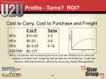 profits turns roi