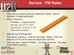 service fill rates