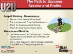 the path to success service and profits
