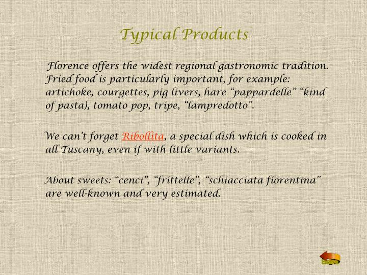 Typical Products