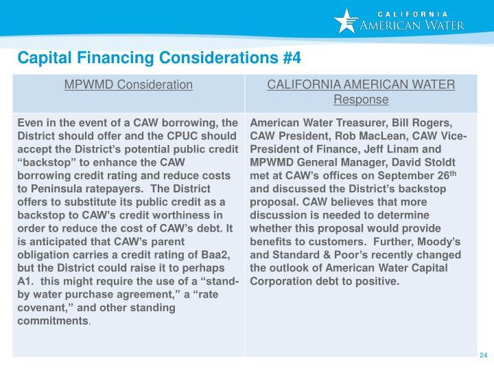 Capital Financing Considerations #4