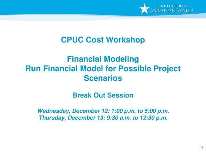 CPUC Cost Workshop