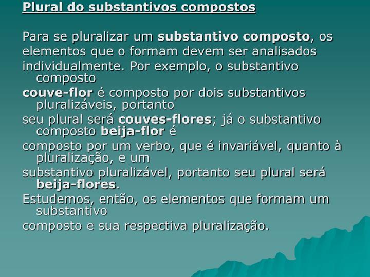 Plural do substantivos compostos