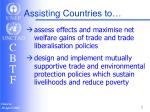 assisting countries to