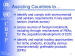 assisting countries to1