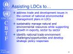 assisting ldcs to