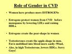 role of gender in cvd