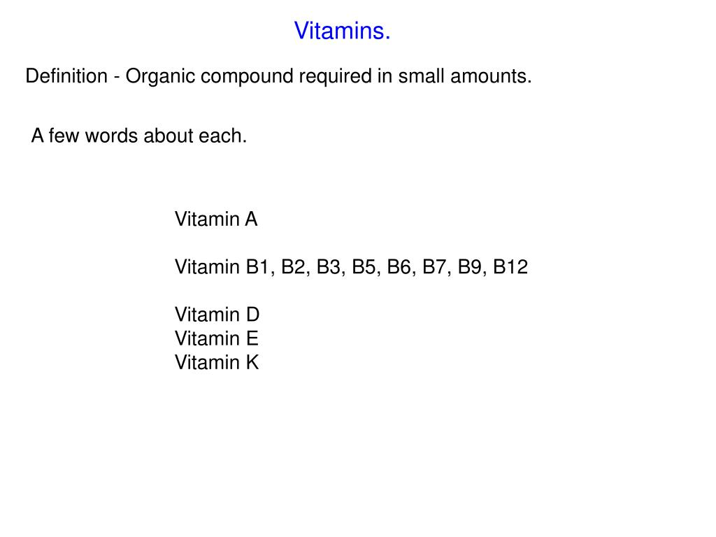 ppt - vitamins. powerpoint presentation - id:2977950