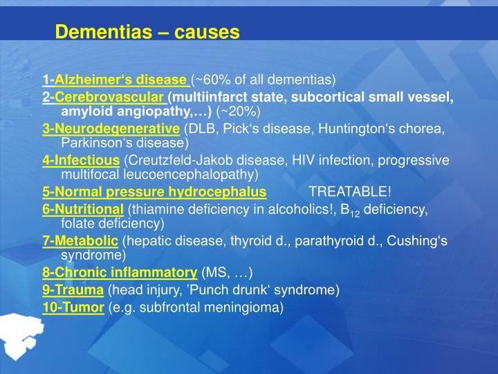 Dementias ca use s