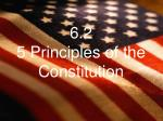 6 2 5 principles of the constitution