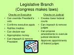 legislative branch congress makes laws