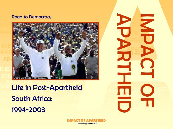 life in post apartheid south africa 1994 2003 n.