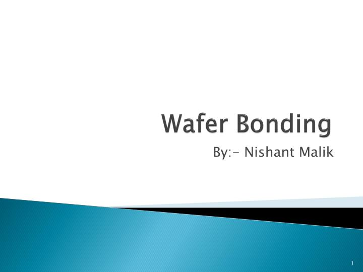 wafer bonding n.
