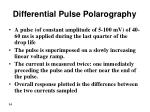 differential pulse polarography