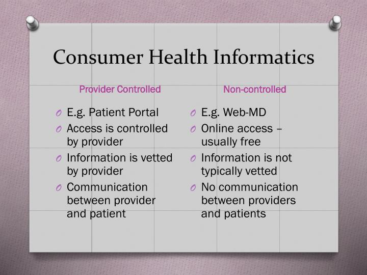 Consumer health informatics1