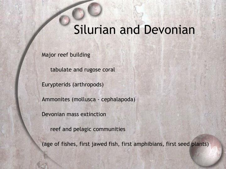 Silurian and Devonian