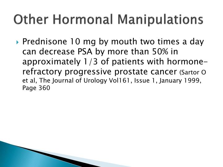 Other Hormonal Manipulations