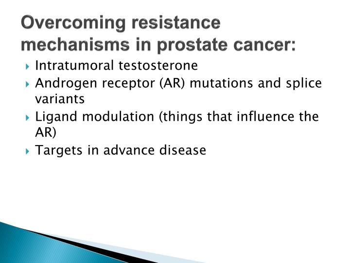 Overcoming resistance mechanisms in prostate cancer