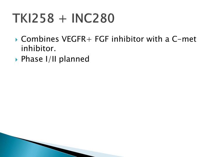TKI258 + INC280