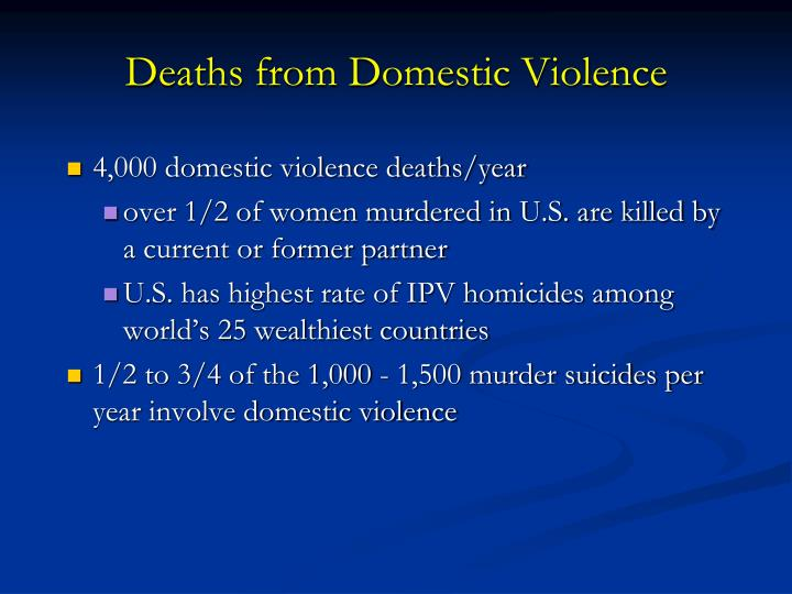 Deaths from Domestic Violence