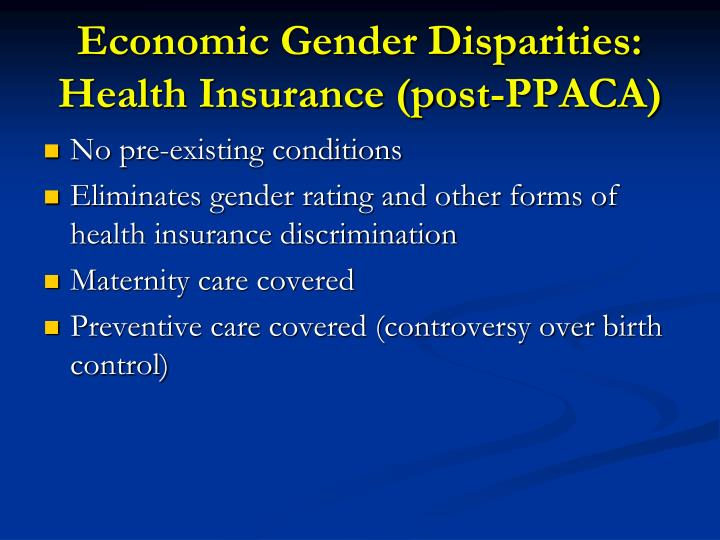 Economic Gender Disparities: