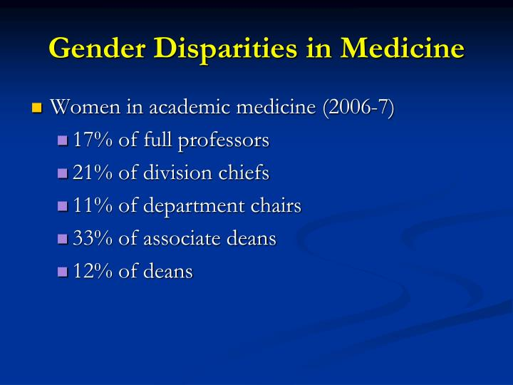 Gender Disparities in Medicine