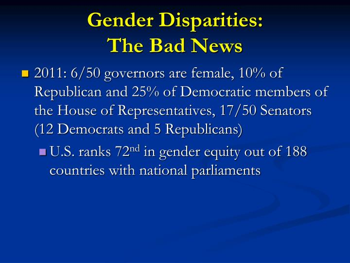 Gender Disparities: