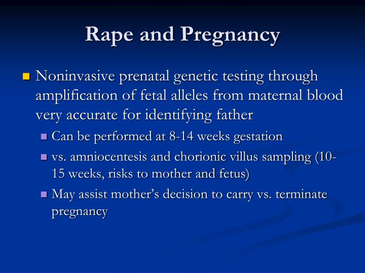 Rape and Pregnancy