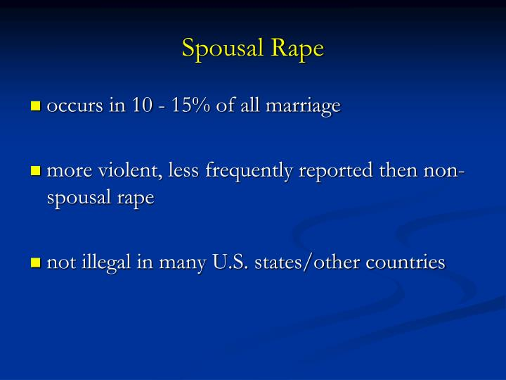Spousal Rape