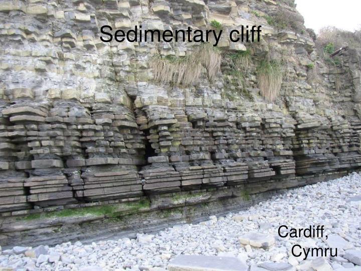 Sedimentary cliff