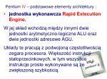 pentium iv podstawowe elementy architektury1