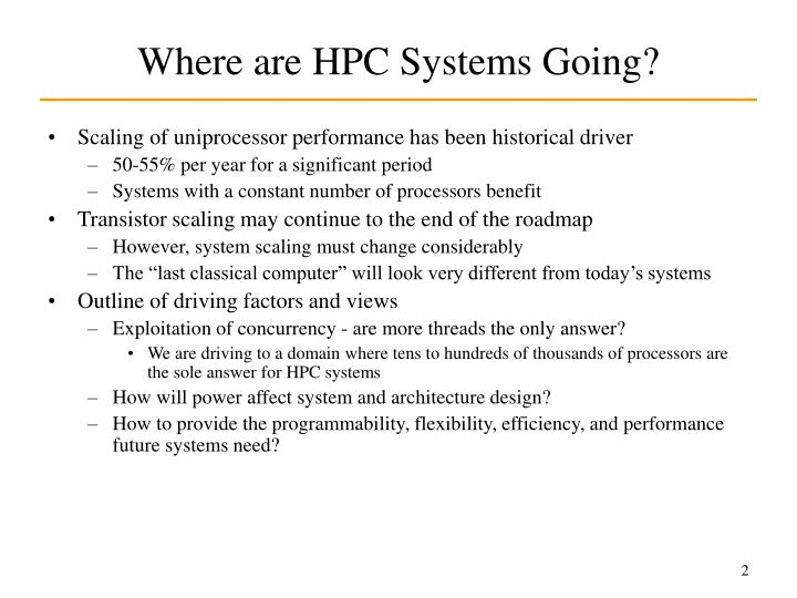 Where are hpc systems going