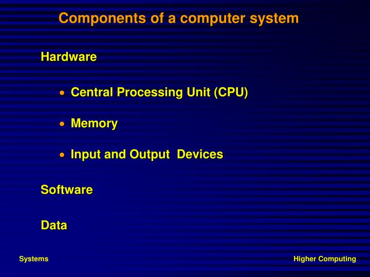 components of a computer system n.