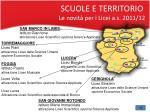 scuole e territorio le novit per i licei a s 2011 12
