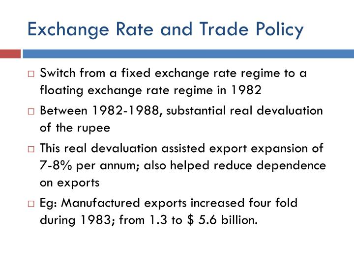 Exchange Rate and Trade Policy