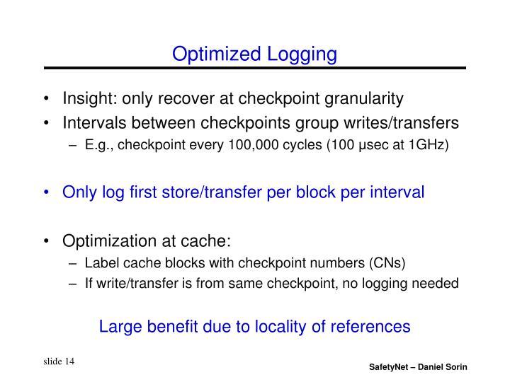 Optimized Logging