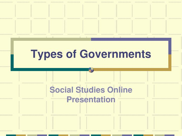 types of governments n.