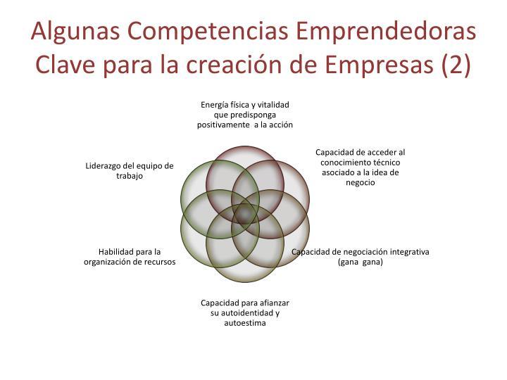 Algunas Competencias Emprendedoras Clave para la creación de Empresas (2)