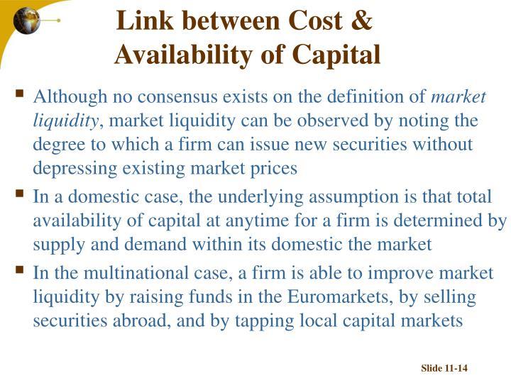 Link between Cost &