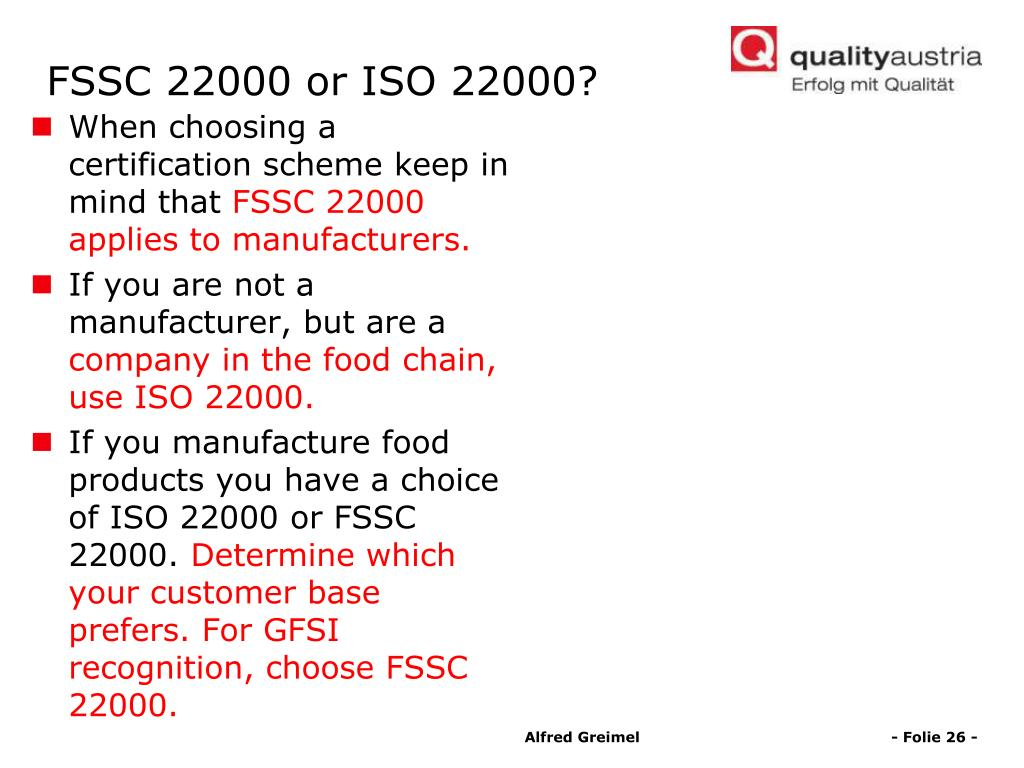 PPT - News for food enterprises and retailers: ISO 22000 + PAS 220