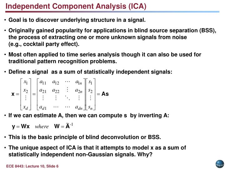 Independent Component Analysis (ICA)